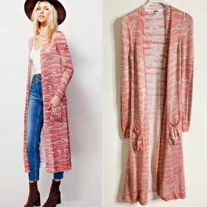FREE PEOPLE Ikat Knit Maxi Length Duster